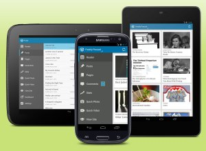 WordPress for Android on a Galaxy S3, a Nexus 7, and a Nexus 10